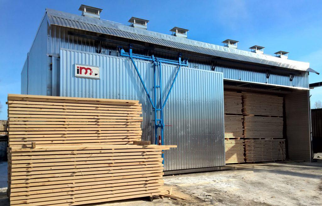 Доставка сушильных камер для древесины из Италии под ключ